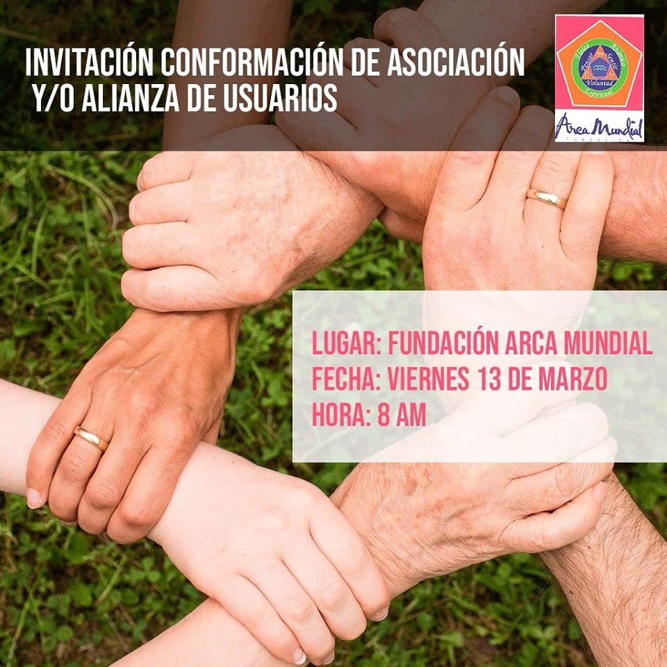 Invitación conformación de asociación y/o alianza de usuarios